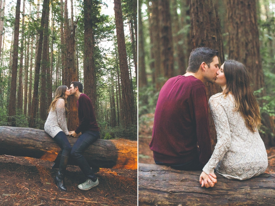 Carly Jean Photography Redwood Engagement Session